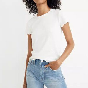 Madewell Baby Tee in Bright Ivory Size Small